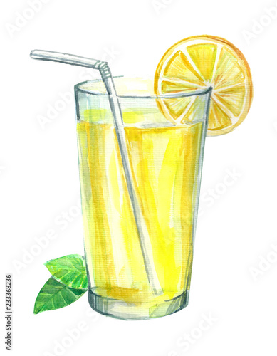 Tablou Canvas Lemonade with lemon and mint