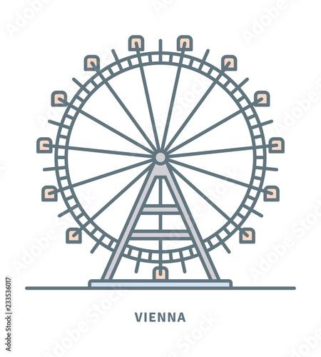 Fototapeta premium Diabelski młyn Prater w Wiedniu ikona