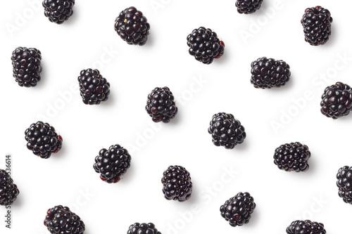 Obraz na plátně Fruit pattern of blackberries