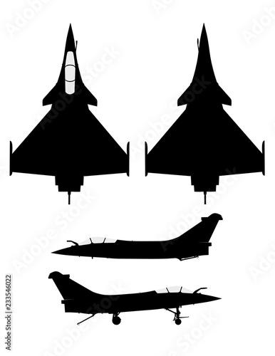 Profil avion de chasse modene Fototapet