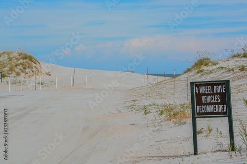 Valokuvatapetti Beach access, Huguenot Memorial Park in Duval County, Atlantic Ocean, Florida