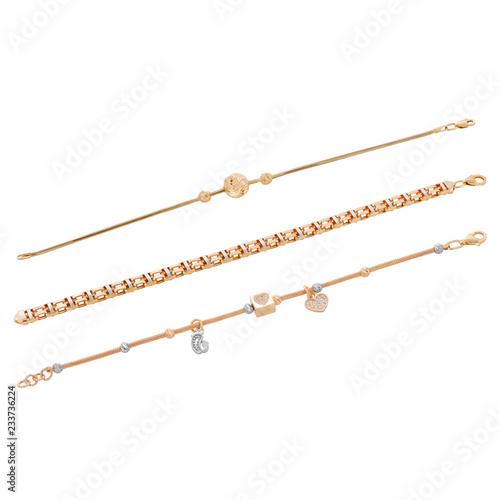 gold in the women's jewelry fashion style. Fototapeta