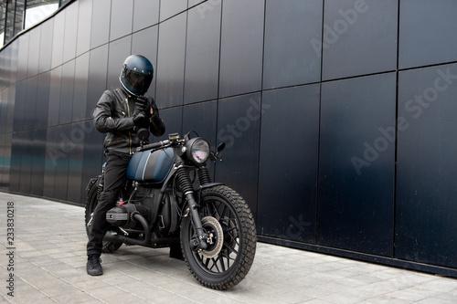 Valokuvatapetti Vintage rebuilt motorcycle motorbike caferacer