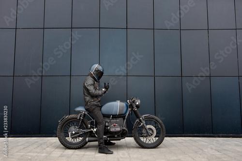 Fotografia Vintage rebuilt motorcycle motorbike caferacer