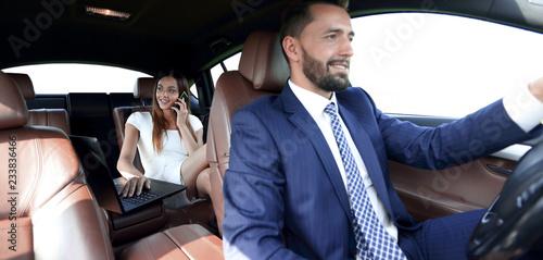 Fotografia Business People Meeting Working Car Inside