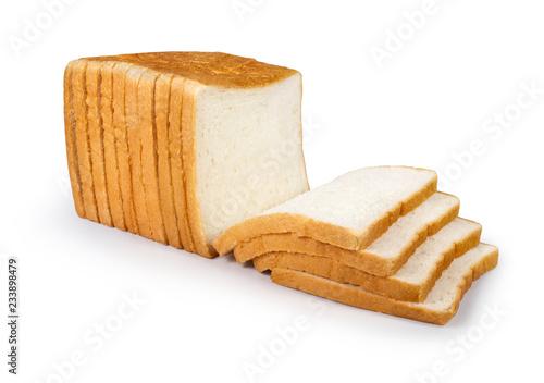 slice of bread isolated on white background Fotobehang