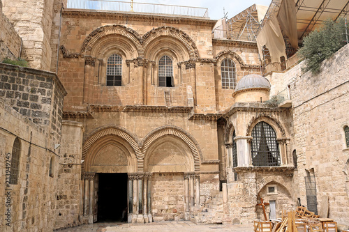 Canvas Print Church of the Holy Sepulchre in Jerusalem, Israel