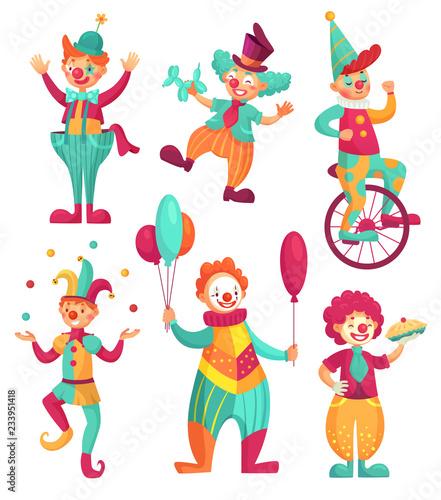 Fényképezés Circus clowns