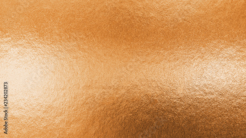 Fotografia Copper gold texture metallic wrapping foil paper shiny orange background for wal