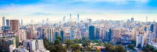 Fototapeta premium widok z lotu ptaka na Bejrut, Liban