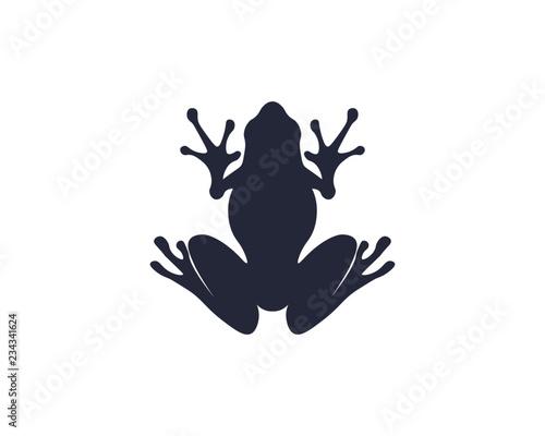 Fototapeta premium green frog symbols logo and template