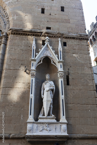 Canvas Print Statue Of St. George By Donatello. Florence
