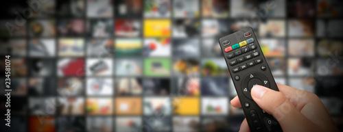 Obraz na płótnie Television streaming video. Media TV on demand