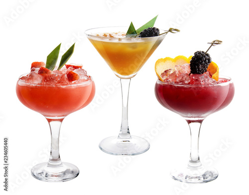 Canvas Print The original fruit cocktail on a white background