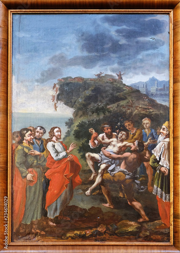 Valokuva Miracles of Jesus: Expelling demons, church of Immaculate Conception in Lepoglav