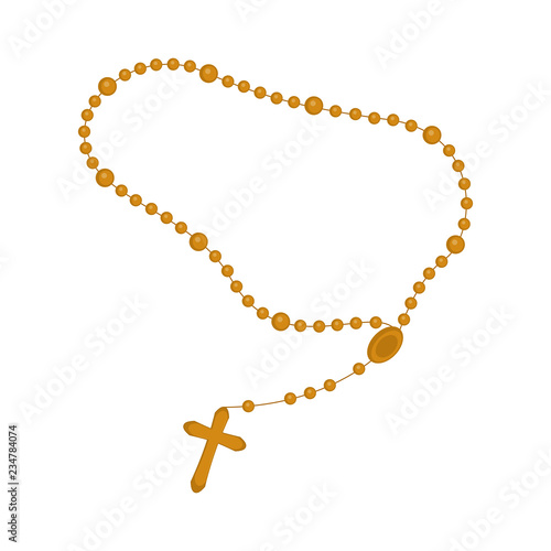 Obraz na plátně Isolated rosary beads icon. Vector illustration design