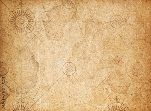 Obraz na plátně Vintage treasure map background