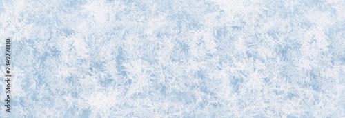 Fotografia, Obraz Textur blaues Eis, Eisfläche, Winter Hintergrund für Werbeflächen