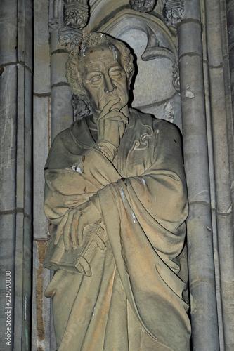 Fotografie, Obraz Statue des Evangelisten Lukas, mit Gesichtszügen von J