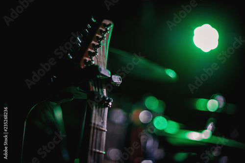 Canvas Print Closeup on musical instrument. Music sound hobby passion concept.