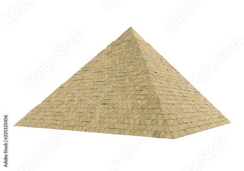 Obraz na plátně Egyptian Pyramid Isolated
