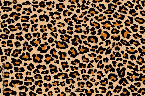 Photo Print leopard pattern texture repeating seamless orange black