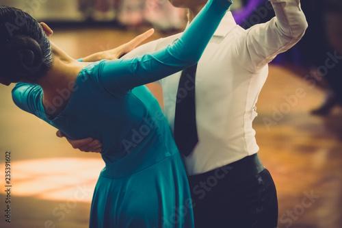 Wallpaper Mural Motion blur of couple dancers dance on the floor