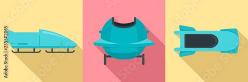 Canvas Print Bobsleigh icon set