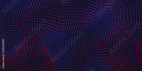 Fotografia Vector colorful field visualization of forces
