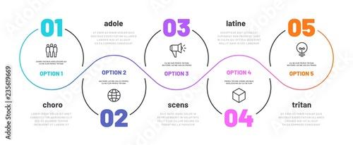 Foto Line step infographic