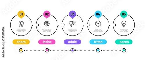 Fotografia Line step infographic