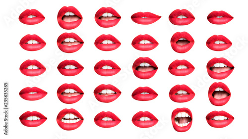 Photo collection of red lips