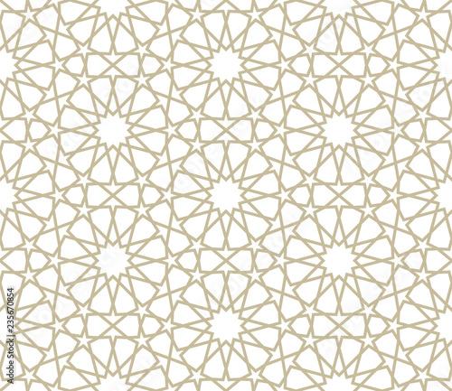 Fotografie, Obraz Seamless gold oriental pattern