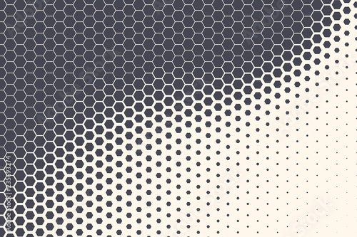 Hexagon Shapes Vector Abstract Geometric Technology Retrowave Sci-Fi Texture Isolated on Light Background Fototapet