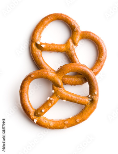 Wallpaper Mural Salted mini pretzels snack.
