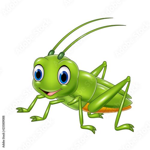 Stampa su Tela Cartoon happy grasshopper