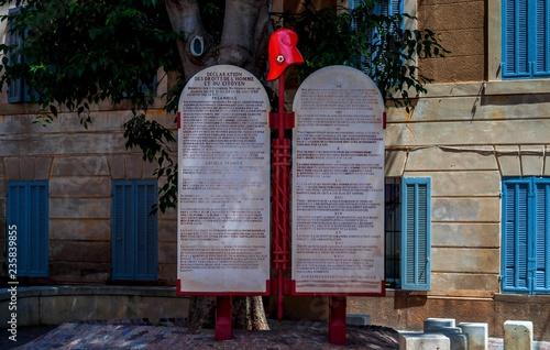 Déclaration des droits de l'homme et du citoyen. Fototapet