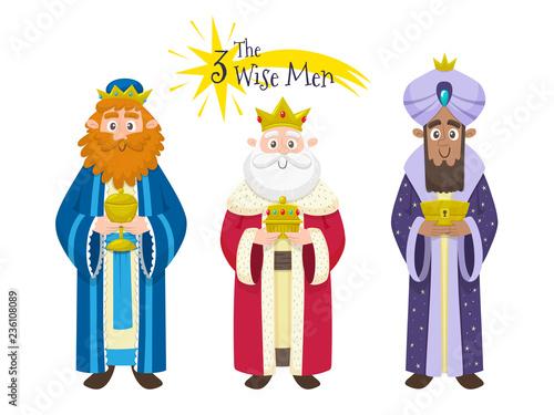 Fotografia Three Magic Kings isolated on white