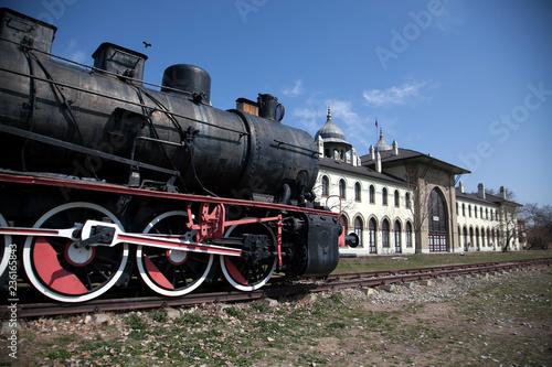 Carta da parati Old train station in Edirne Turkey