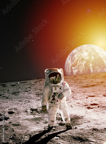 Stampa su Tela Astronaut on Moon