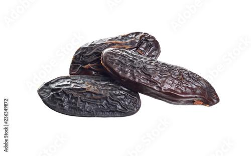 Bean of Dipteryx odorata, cumaru or kumaru. Its seeds are known as tonka beans, sometimes tonkin beans or tonquin beans