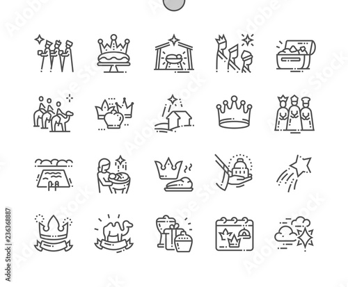 Fényképezés Epiphany Well-crafted Pixel Perfect Vector Thin Line Icons 30 2x Grid for Web Graphics and Apps