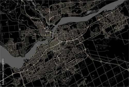 Obraz na plátně Map of the city of Ottawa, Ontario, Canada
