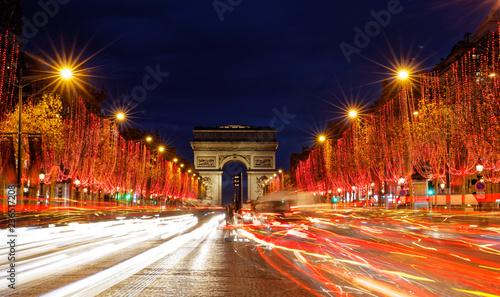 Folia na okno łazienkowe Iluminacje świąteczne na Polach Elizejskich w Paryżu