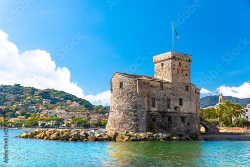 Fotografie, Obraz Beautiful view of coastline and picturesque seaside village Rapallo