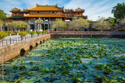Fotografia Imperial Royal Palace of Nguyen dynasty in Hue, Vietnam