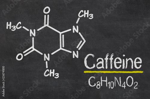 Fotografija Blackboard with the chemical formula of Caffeine