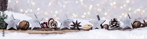 Fotografia, Obraz weihnachtskarte hintergrund natürlich bokeh zapfen