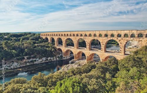 Roman Aqueduct, Pont du Gard Fototapet