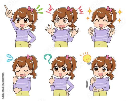 女の子 (アニメ・ゲーム風テイスト)